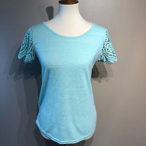 The Limited Lace Sleeve T-shirt size Small